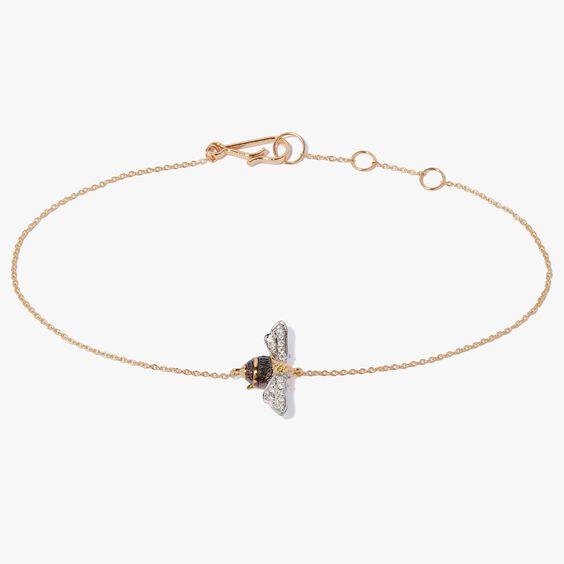 Love Diamonds 18ct Gold Diamond Bee Bracelet | Annoushka jewelley