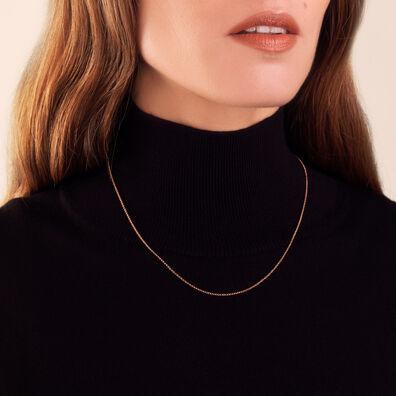 18ct Rose Gold Fine Belcher Chain