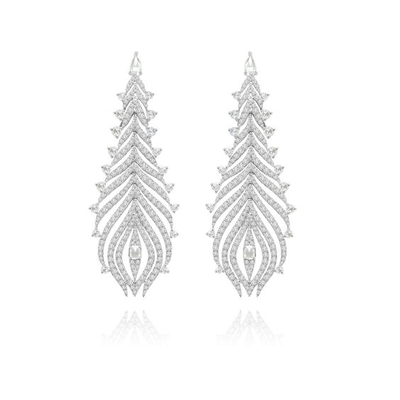 Sutra Diamond Feather Earrings | Annoushka jewelley