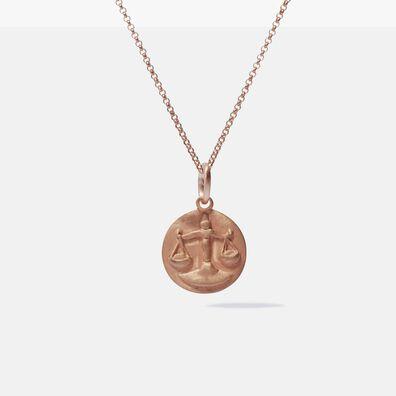 Mythology 18ct Rose Gold Libra Necklace