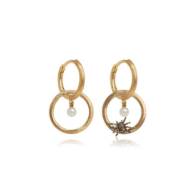 Hoopla 18ct Gold Spider Earrings