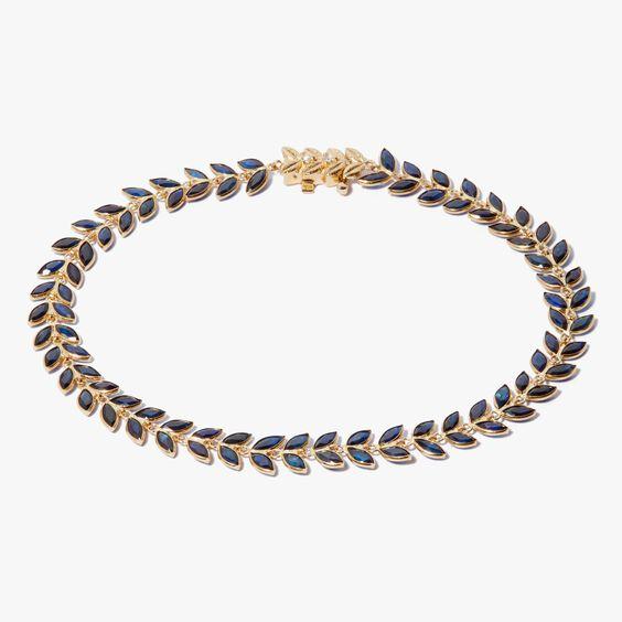 18ct Gold Sapphire Vine Bracelet   Annoushka jewelley