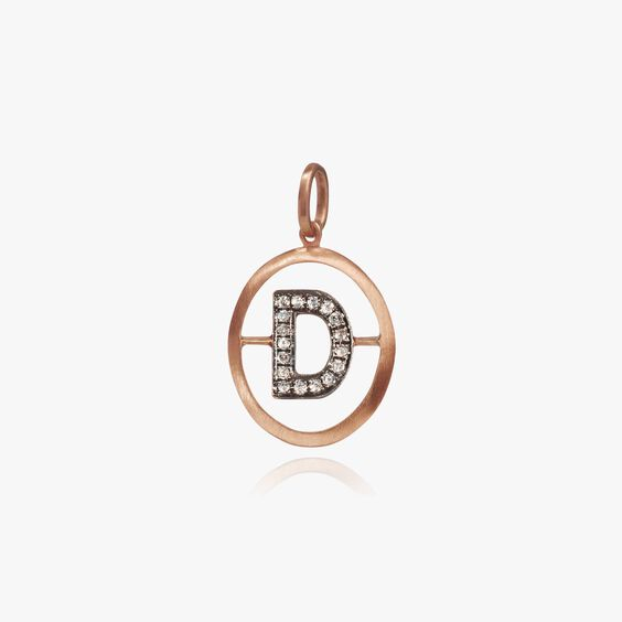 18ct Rose Gold Initial D Pendant | Annoushka jewelley