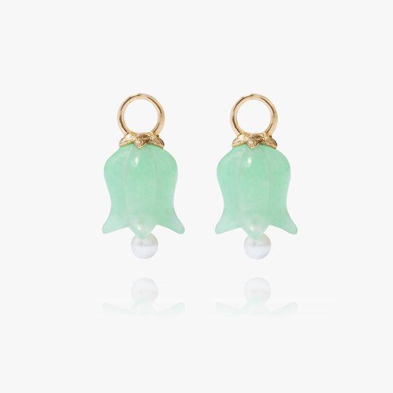 18ct Gold Jade Tulip Earring Drops | Annoushka jewelley