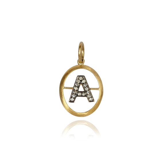 18ct Gold Diamond Initial Pendant | Annoushka jewelley
