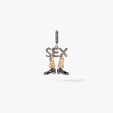 18ct Gold Diamond Sex on Legs Charm