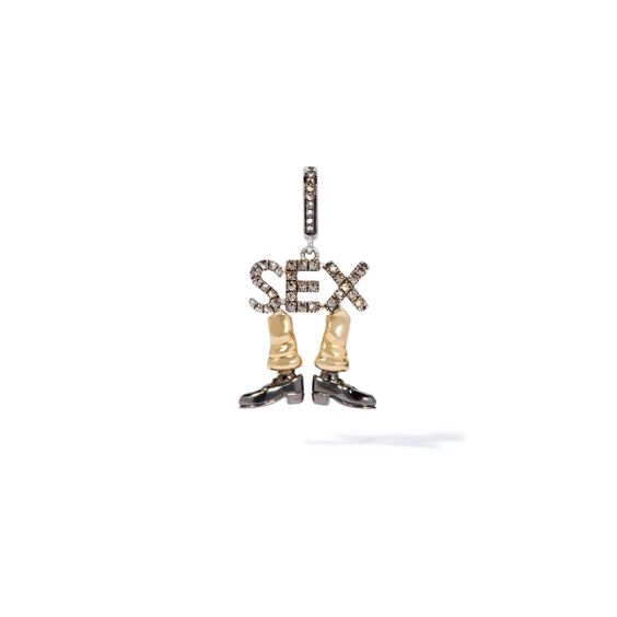 18ct Gold Diamond Sex on Legs Charm | Annoushka jewelley