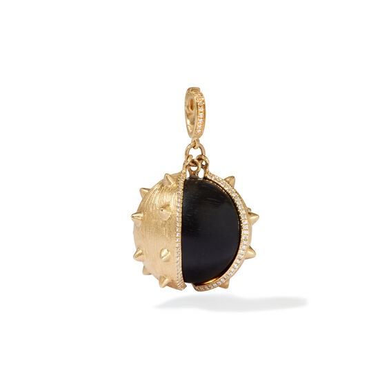Mythology 18ct Gold Ebony Conker Seed Pendant | Annoushka jewelley