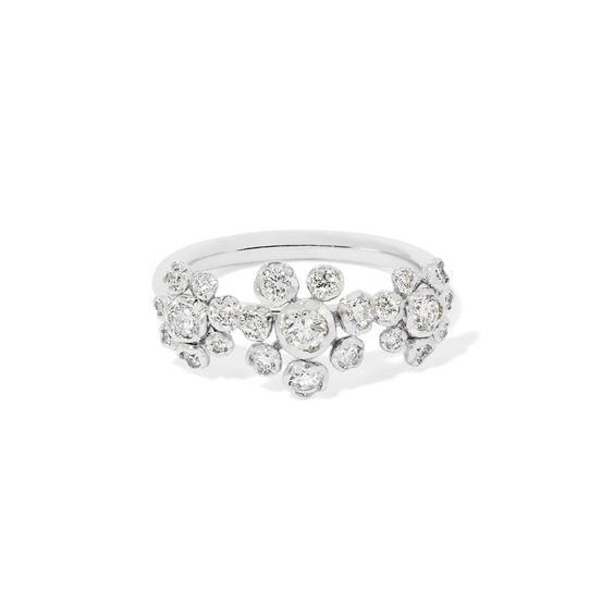 Marguerite 18ct White Gold Diamond Triple Ring | Annoushka jewelley