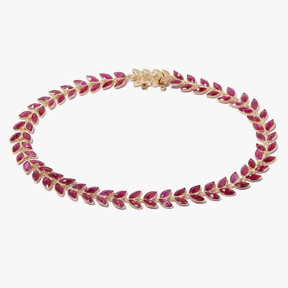 18ct Gold Ruby Vine Bracelet | Annoushka jewelley