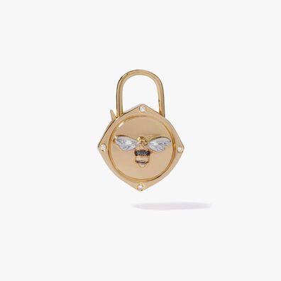 Lovelock 18ct Gold Diamond Bee Charm