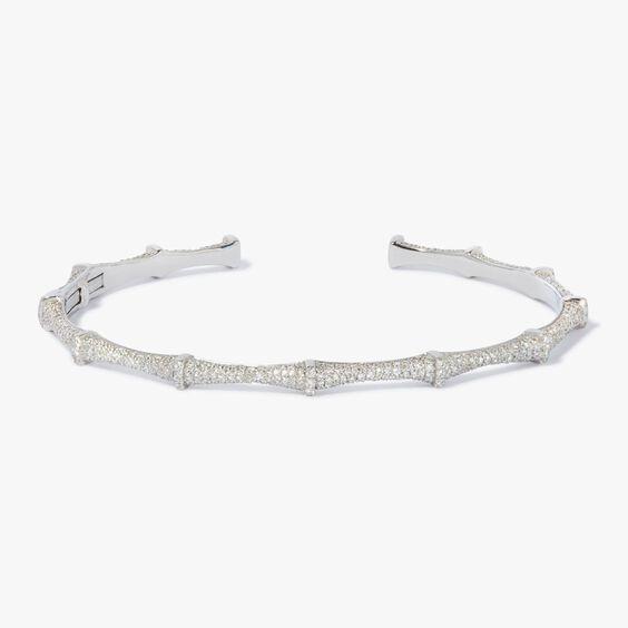 Dream Catcher 18ct White Gold Diamond Bangle | Annoushka jewelley