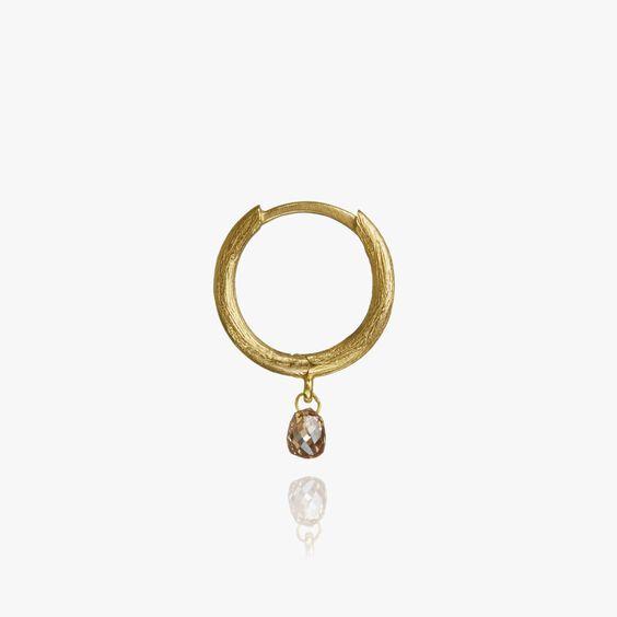 Hoopla 18ct Gold Diamond Hoop Earring | Annoushka jewelley
