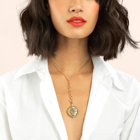 Mythology 18ct Gold Diamond Spinning Globe Pendant | Annoushka jewelley