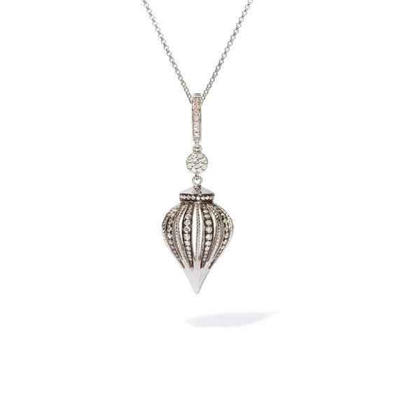 Unique 18ct White Gold Diamond Charm