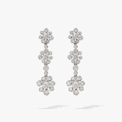 Marguerite 18ct White Gold Diamond Drop Earrings