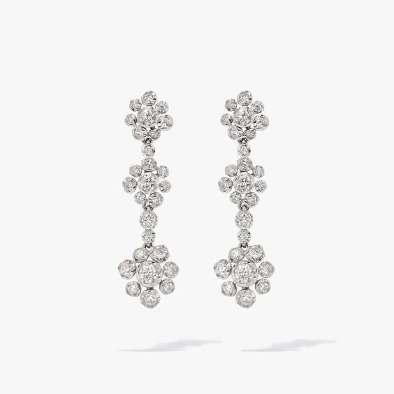 Marguerite 18ct White Gold Diamond Drop Earrings | Annoushka jewelley