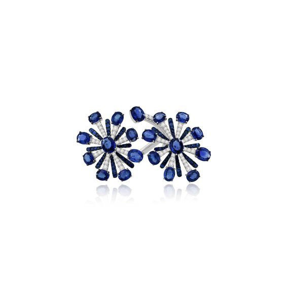 Sutra Sapphire & Diamond Ring | Annoushka jewelley