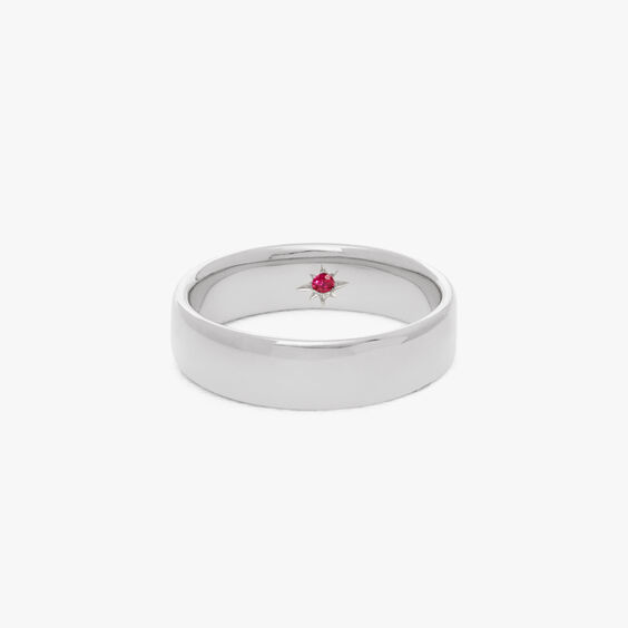 18ct White Gold 5mm Wedding Band | Annoushka jewelley