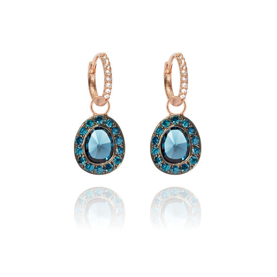 Dusty Diamonds 18ct Rose Gold Topaz Earrings | Annoushka jewelley