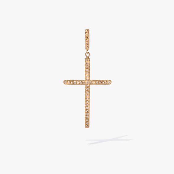 Eclipse 18ct Gold Brown Diamond Cross Pendant | Annoushka jewelley