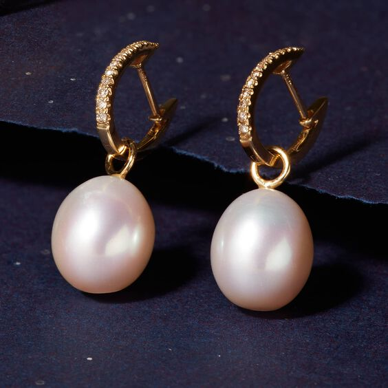 18ct Gold Baroque Pearl Earring Drops | Annoushka jewelley