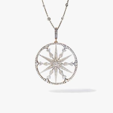 Mythology 18ct Mixed Gold Diamond Large Star Necklace