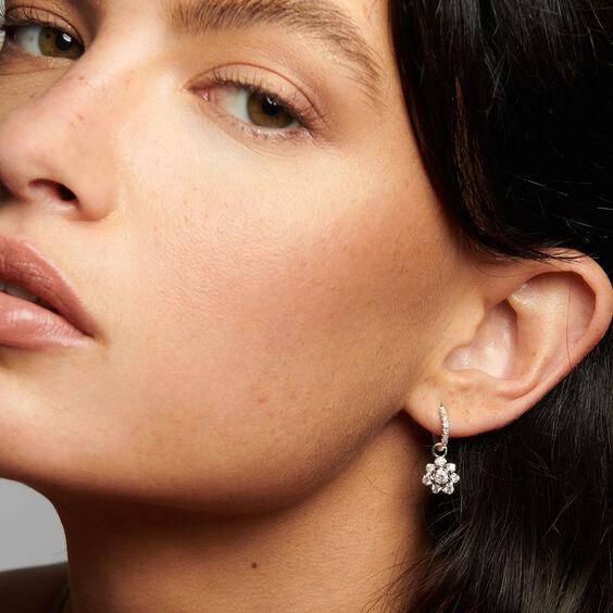 Marguerite 18ct White Gold Diamond Large Earring Drops | Annoushka jewelley