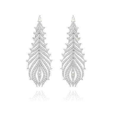 Sutra Diamond Feather Earrings