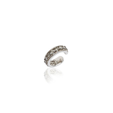 Dusty Diamonds White Gold Diamond Ear Cuff