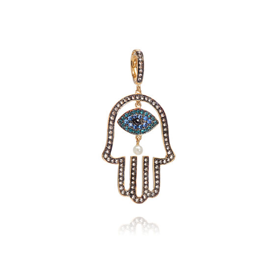 Mythology 18ct Gold Diamond Hand of Fatima Pendant
