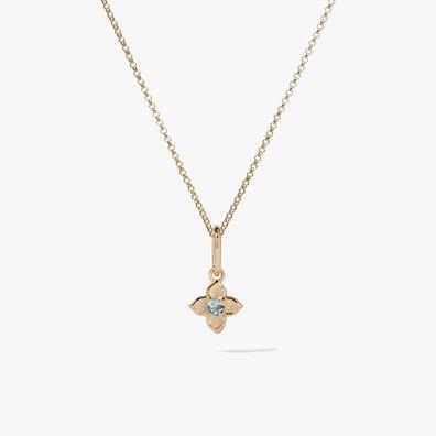 Tokens 14ct Gold Aquamarine Necklace