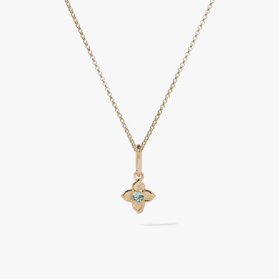 Tokens 14ct Gold Aquamarine Necklace | Annoushka jewelley