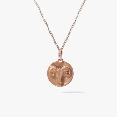 Mythology 18ct Rose Gold Aries Necklace