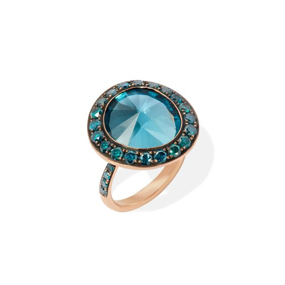 Dusty Diamonds 18ct Rose Gold Topaz Ring | Annoushka jewelley