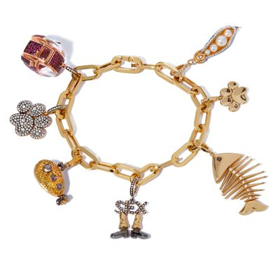 18ct Gold My Life in Seven Charm Bracelet