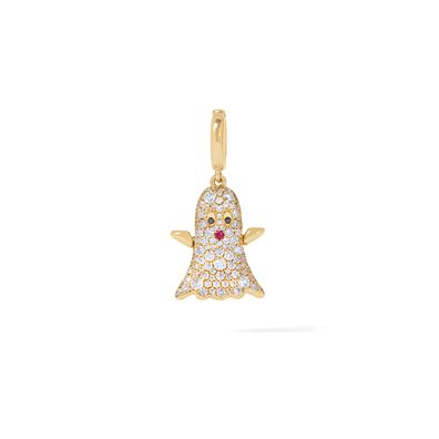 Mythology 18ct Gold Diamond Ghost Charm