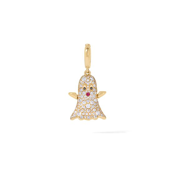 Mythology 18ct Gold Diamond Ghost Charm | Annoushka jewelley