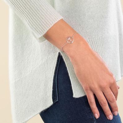 18ct White Gold Diamond Initial T Bracelet
