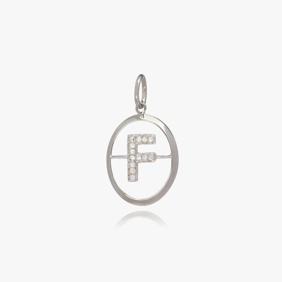 18ct White Gold Initial F Pendant | Annoushka jewelley
