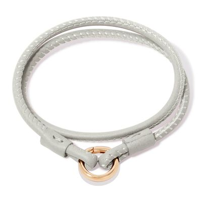 14ct Gold Lovelink 35cms Cream Leather Bracelet