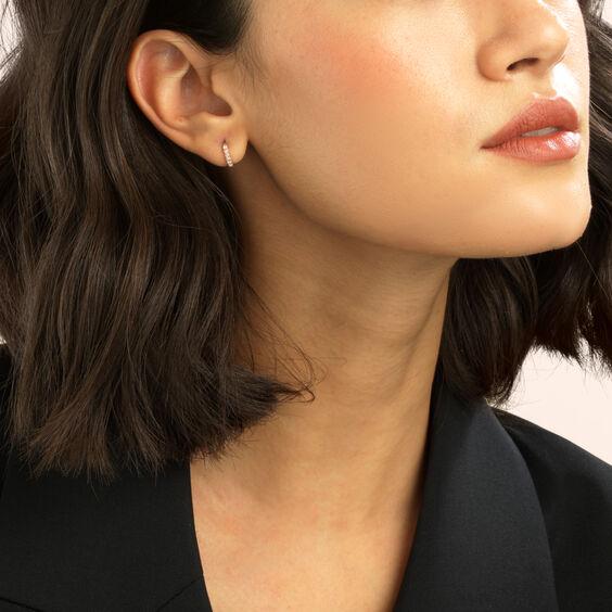 Dusty Diamonds 18ct Rose Gold Diamond 10mm Hoop | Annoushka jewelley