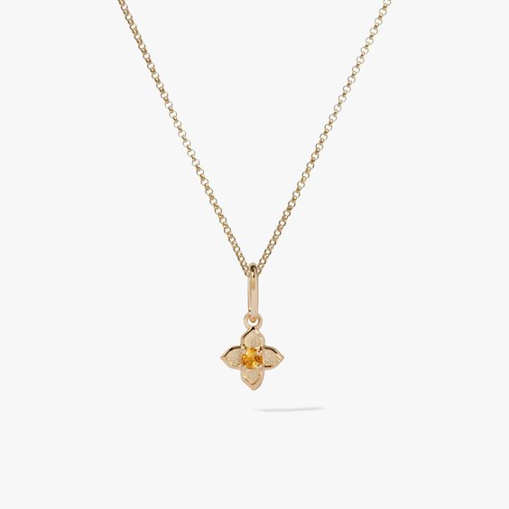Tokens 14ct Gold Citrine Necklace