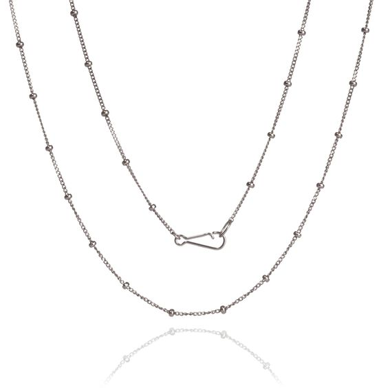 18ct White Gold Saturn Long Chain | Annoushka jewelley