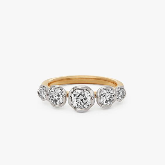 Marguerite 18ct Yellow & White Gold Five Stone 0.50ct Engagement Ring | Annoushka jewelley