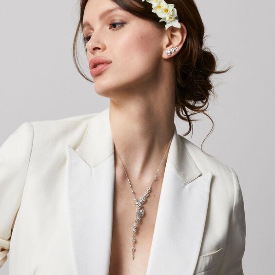 Marguerite 18ct White Gold Diamond Cocktail Necklace