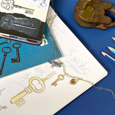 Mythology 18ct Gold Diamond Key Charm