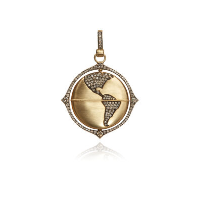 Mythology 18ct Gold Diamond Globe Pendant