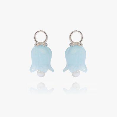 18ct White Gold Aquamarine Tulip Earring Drops