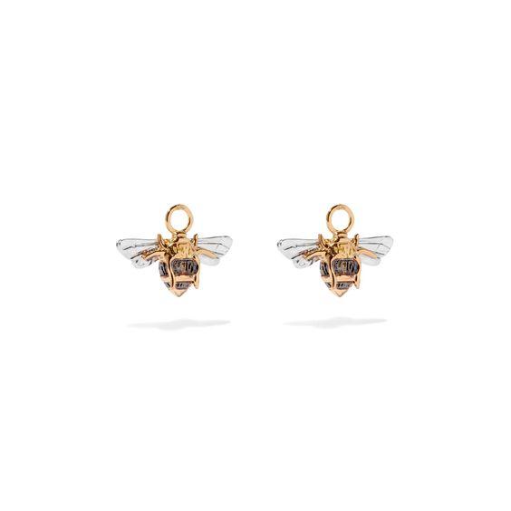 Mythology 18ct Gold Diamond Bee Earring Drops | Annoushka jewelley